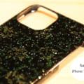 津軽塗 iPhoneケース [iPhone 11 Pro] 唐塗 貝蒔 黒